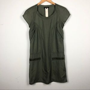 Isabel Marant olive green military shift dress
